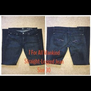 7 for all Mankind Straight Legged Jeans